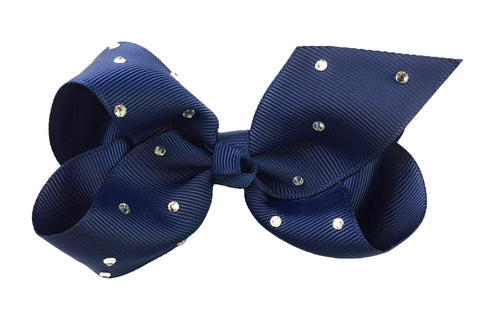 Americana Bow Pinch Clip - Sparkle - Navy