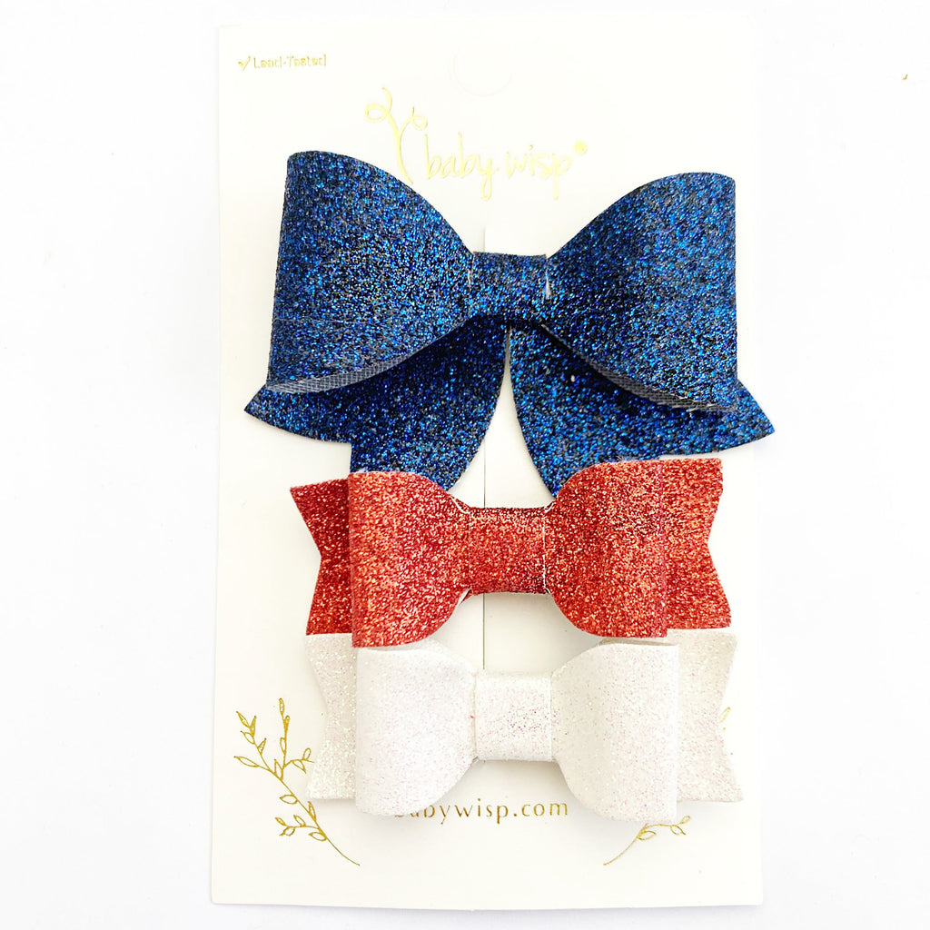 Patriotic Sparkly Pinch Clips