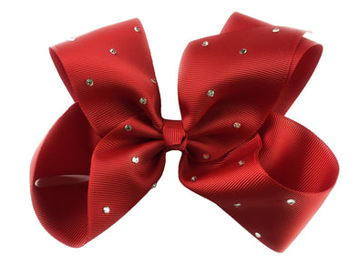 Nicki Bow Pinch Clip - Sparkle - Red - Baby Wisp