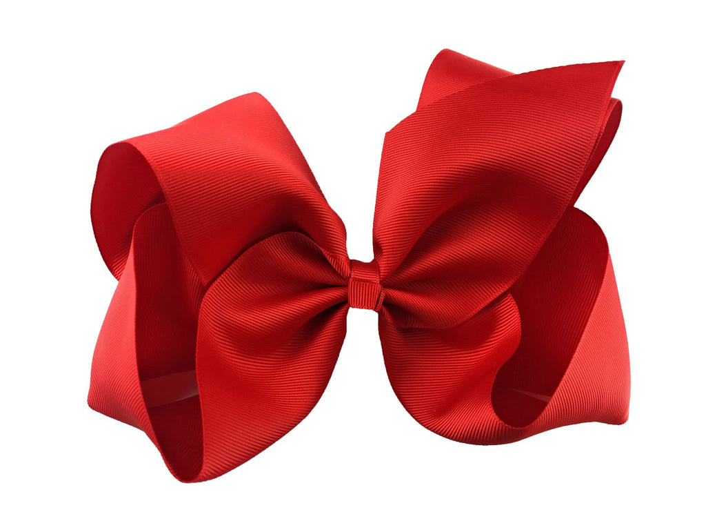 Mariah Bow Pinch Clip - Red - Baby Wisp