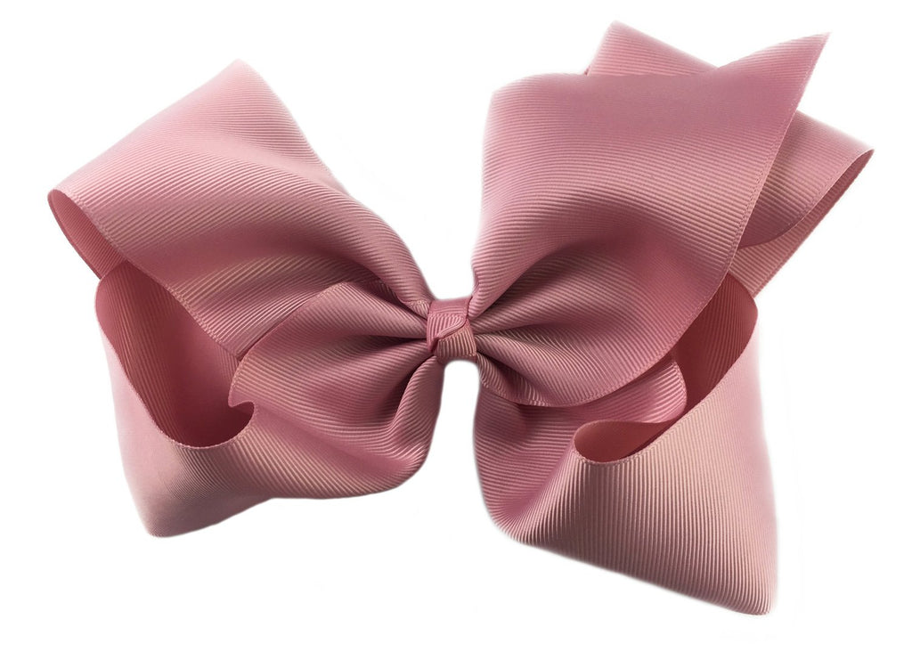 Mariah Bow Pinch Clip - Rose Quartz Blush - Baby Wisp
