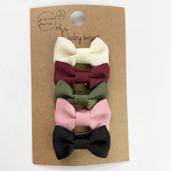 Small Snap Charlotte Bow Collection - Napa Valley - Baby Wisp