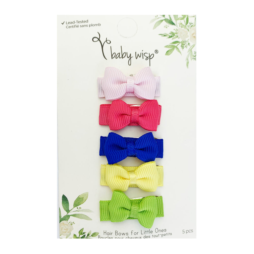 Small Snap Grosgrain Hair Bow Collection - Lively - Baby Wisp