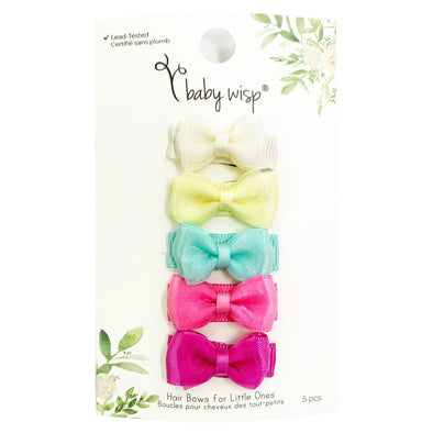 Fancy Bows Easter Bows - 5 Snap Clips - Baby Wisp