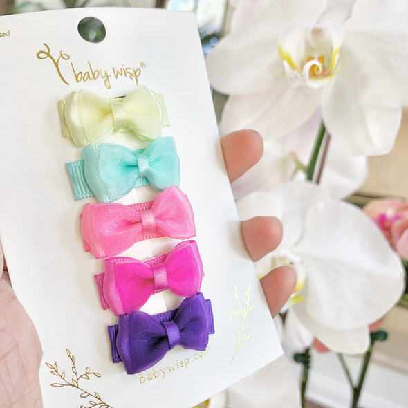 Fancy Bows For Girls - See you in September - 5 Snap Clips - Baby Wisp