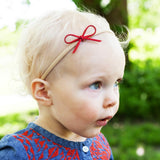 Cute Baby Headband Gift Set - Suede Bow | Suede Cord Bow - Baby Wisp