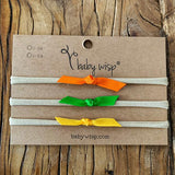 Baby Headband tieknot 3 bows -Thanksgiving Inspired Gift Set - Baby Wisp