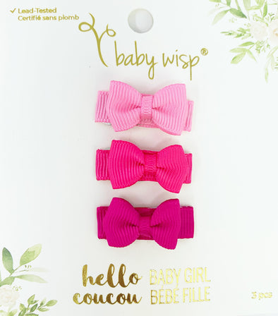 Valentine 3 Hairbow Set - Forever - Baby Wisp