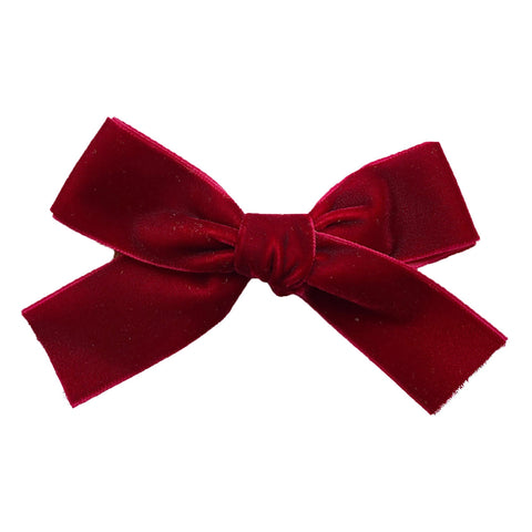 Velvet Ribbon Hair Bow - Alligator Clip