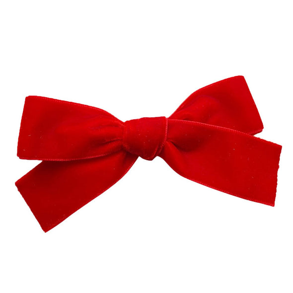 Velvet Ribbon Hair Bow - Alligator Clip - Baby Wisp