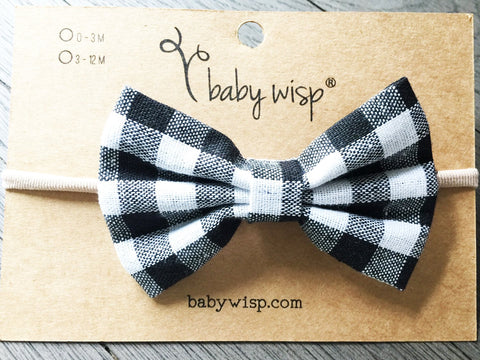 plaid baby headband