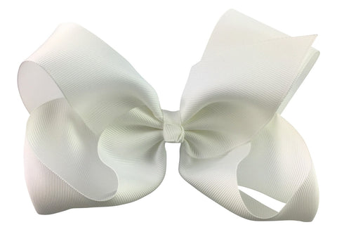 Nicki Bow Pinch Clip - White - Baby Wisp