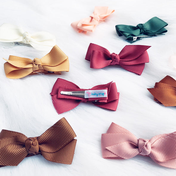 Fall Color Bows Aiyanna Toddler Bow - Alligator Hair Clip
