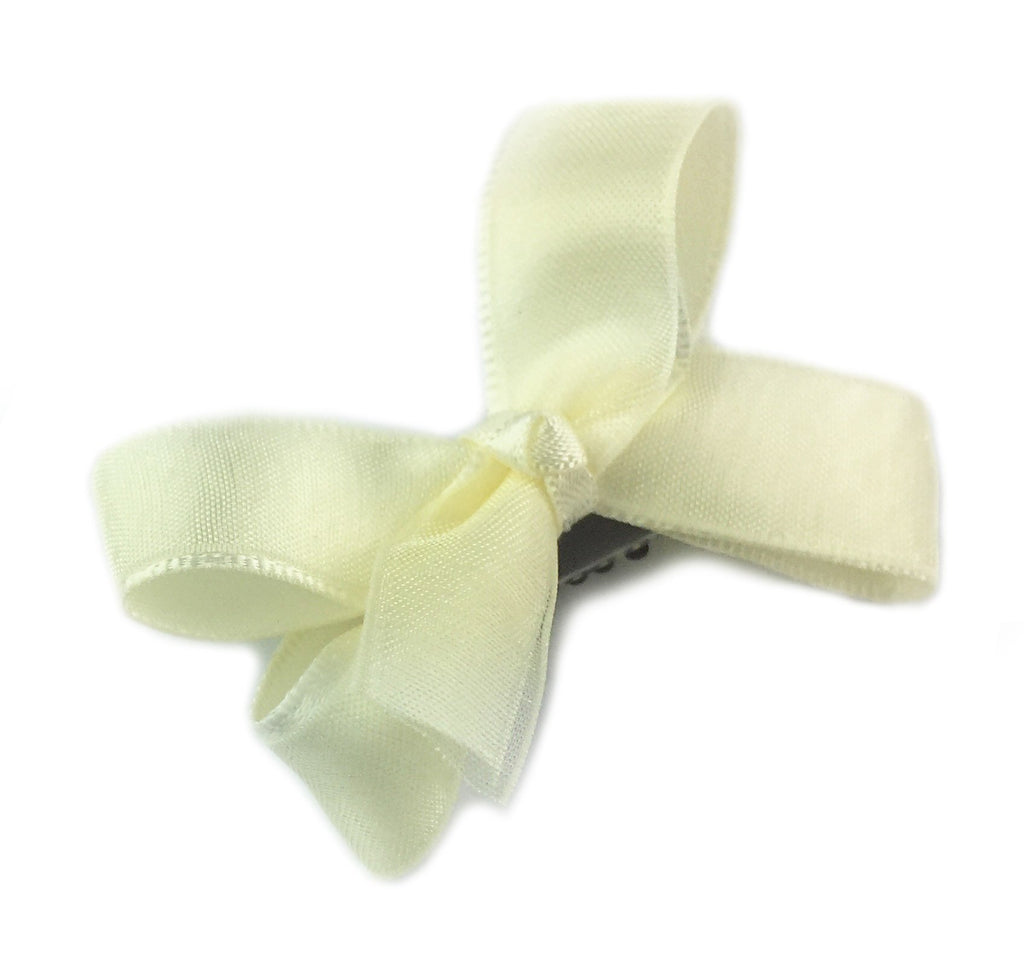 Mini Latch Wisp Clip Satin Organza Boutique Bow - Baby Wisp