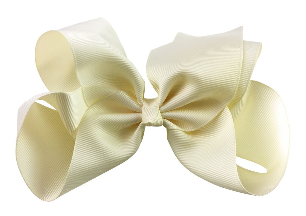 Nicki Bow Pinch Clip - Antique White - Baby Wisp