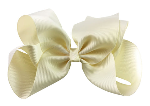 Nicki Bow Pinch Clip - Antique White