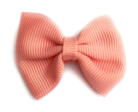 Small Snap Classic Baby Bow - Light Coral - Baby Wisp