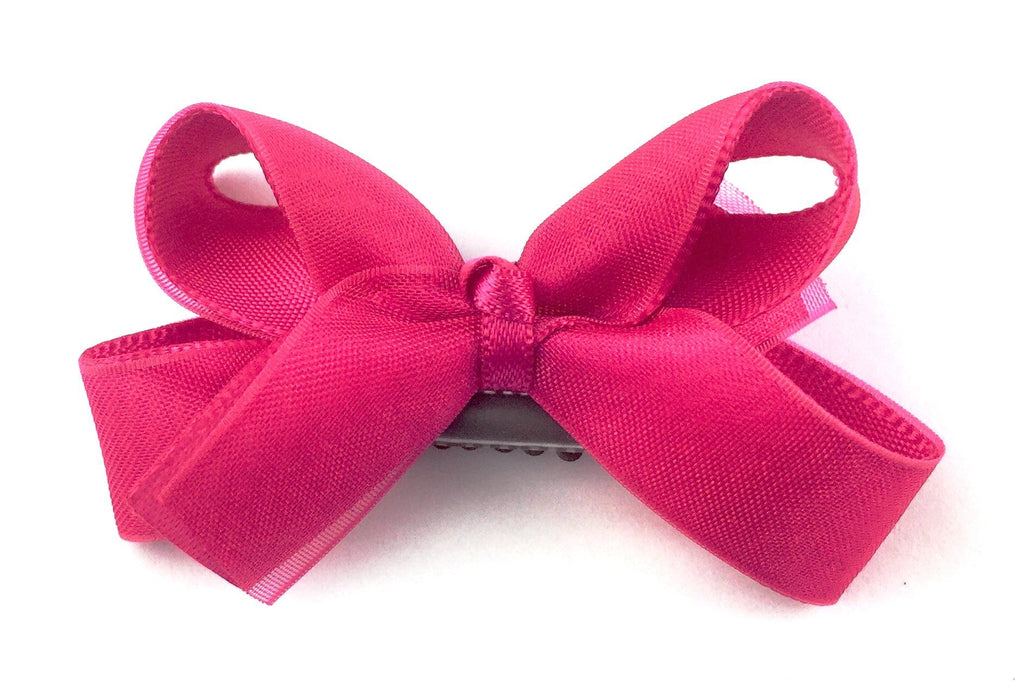 Mini Latch Boutique Bow - Fuchsia - Baby Wisp