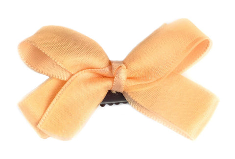 Mini Latch Boutique Bow - Baby Peach - Baby Wisp