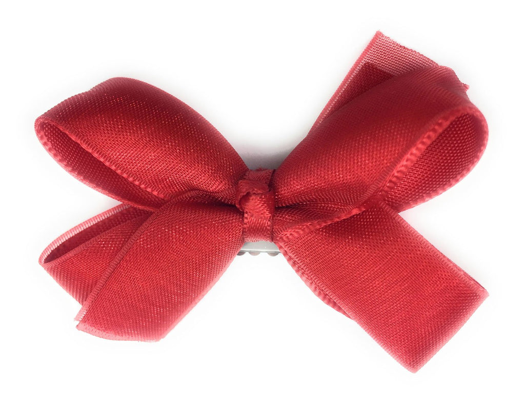 Mini Latch Boutique Bow - Red - Baby Wisp