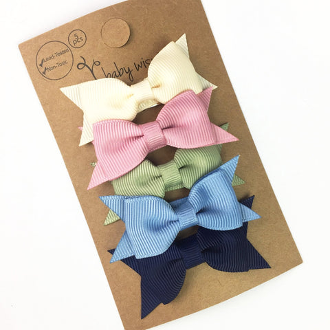 5 Small Snap Cadeau Bows Gift Set - Finesse - Baby Wisp