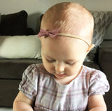 Pick 2 Faux Suede Angled Bows - Infant Headbands - Baby Wisp