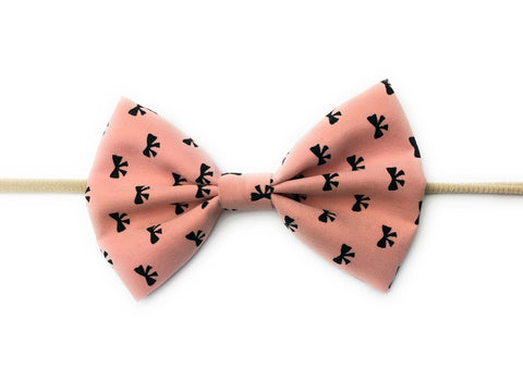 Infant Bow Headband - Bow Print - Baby Wisp