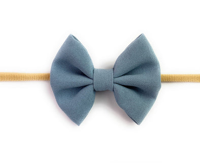 Infant Headband - Fanny Bow - Blue