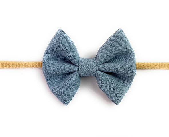 Infant Headband - Fanny Bow - Blue - Baby Wisp
