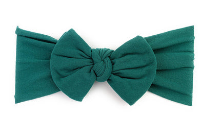Nylon Bow Headband - Emerald Green - Baby Wisp