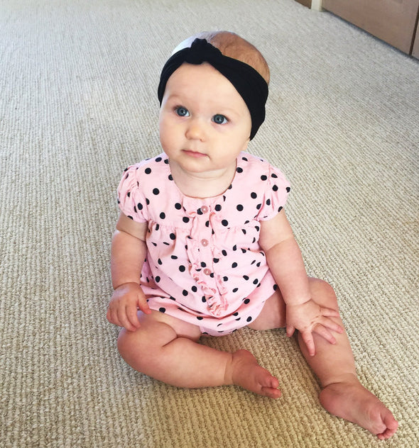 Infant Headwrap - Turban Knot Headband - Baby Wisp