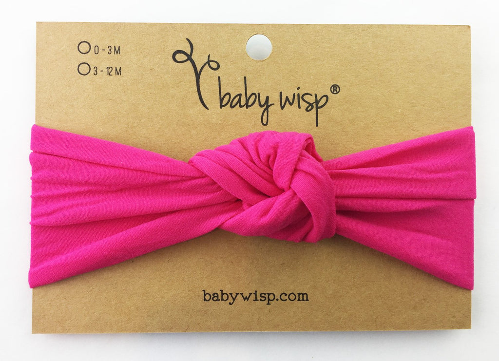 Infant Headwrap - Turban Knot Headband - Fuchsia - Baby Wisp