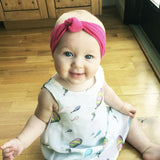 Infant Headwrap - Turban Knot Headband - Pale Pink - Baby Wisp