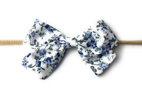 Infant Fabric Bow Headband - Vintage Floral - Baby Wisp