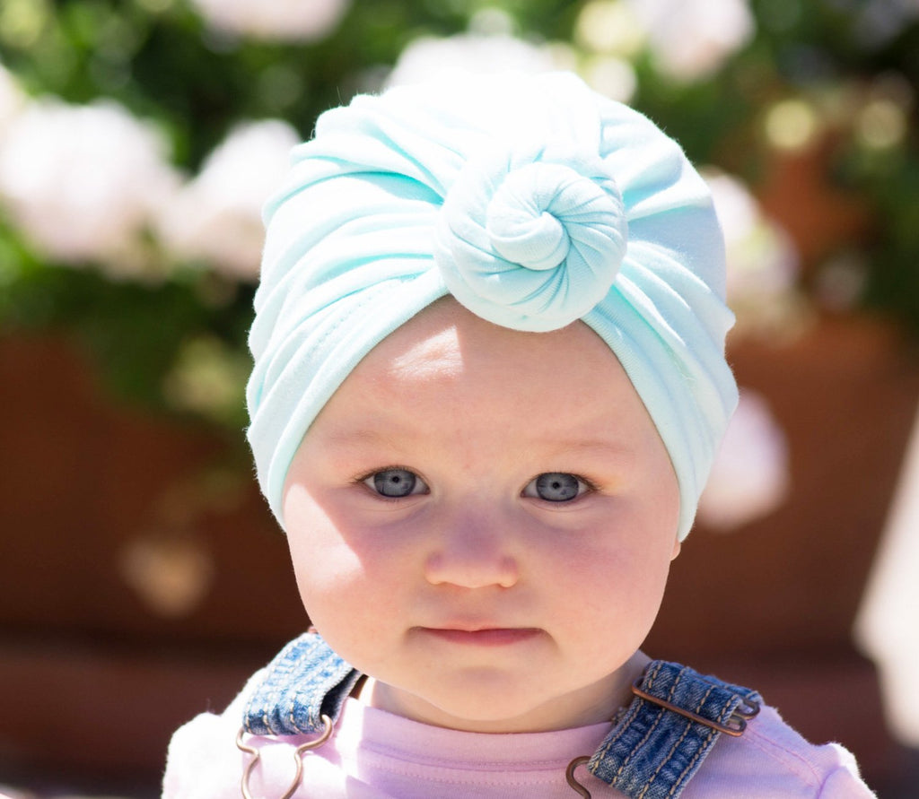 ... Infant Turban Knot Hat - Baby Wisp ... 7a4fc1e3ed6