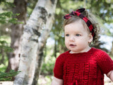 Top Knot Laguna Aqua and Coral Patterned Baby Headband - Baby Wisp