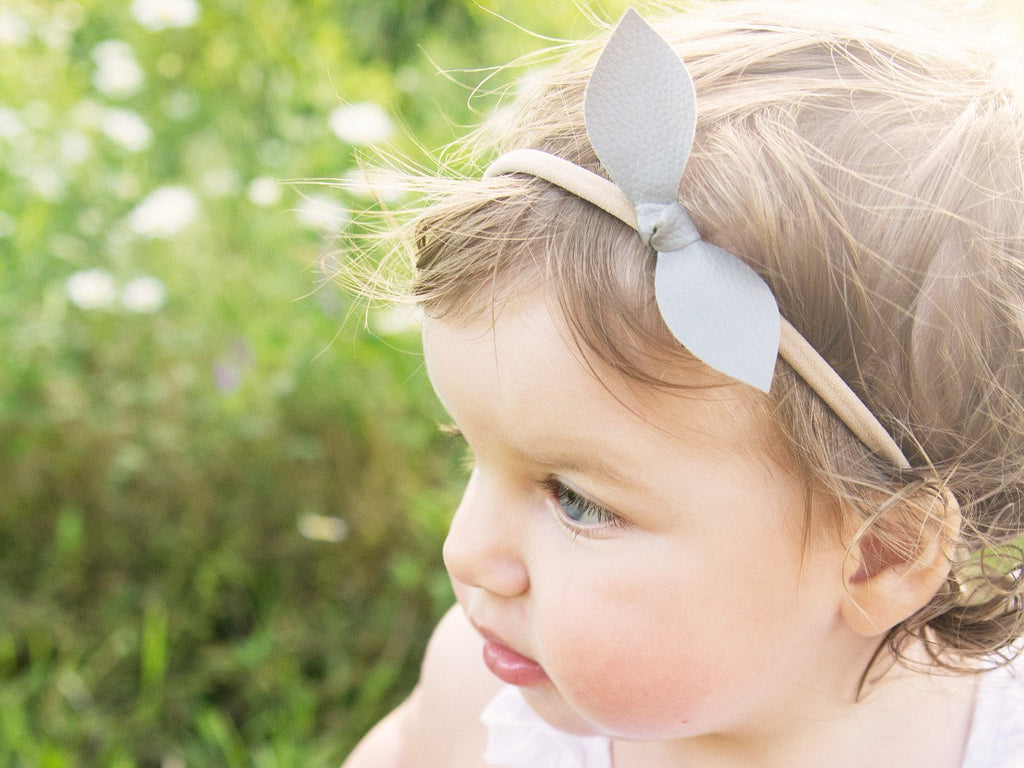 ... 2 Faux Leather Knots Bow Headbands - Baby Wisp ... c207618d782