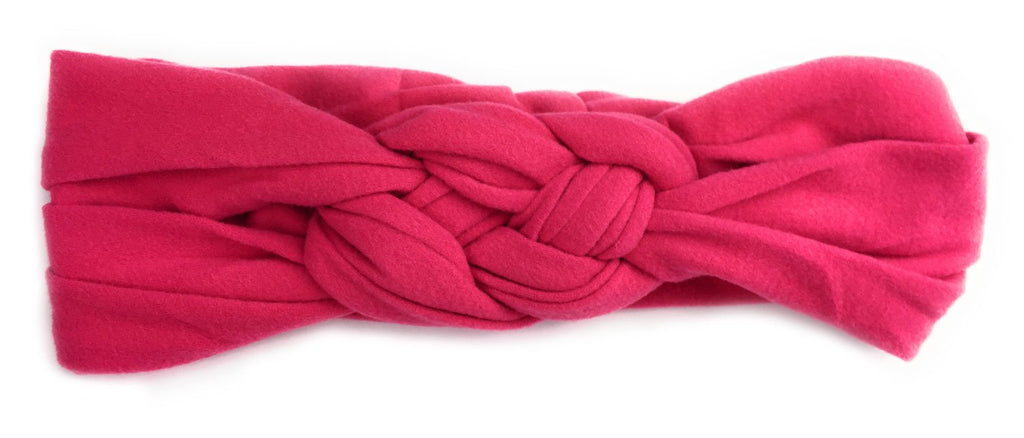 Baby Headwrap - Braided Sailor Knot - Fuchsia - Baby Wisp