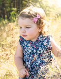 Floral Headband And 3 Baby Bow Gift Set - Ambrose - Baby Wisp