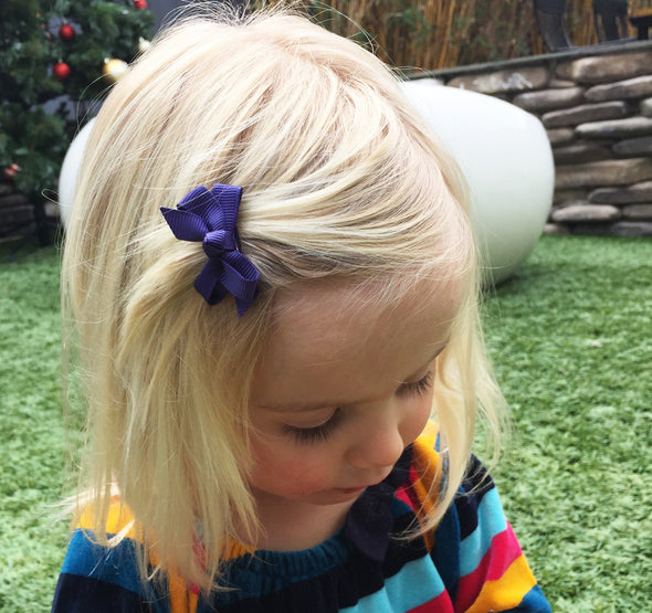 Small Snap Chelsea Boutique Bow - Single Hair Bow - Wildrose - Baby Wisp