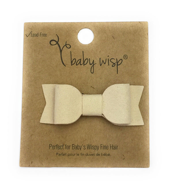 Mini Latch Wisp Clip - Mia Faux Suede Bows for Fall - Baby Wisp
