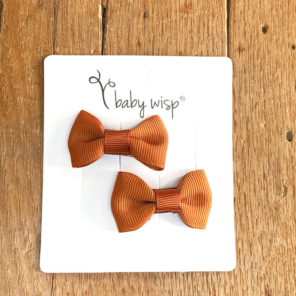 Snap Clip Barrette Pair - Nutmeg