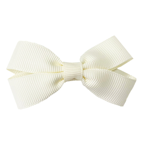 Sandra- Grosgrain Hair Bow- Alligator Hair Clip - Ivory - Baby Wisp