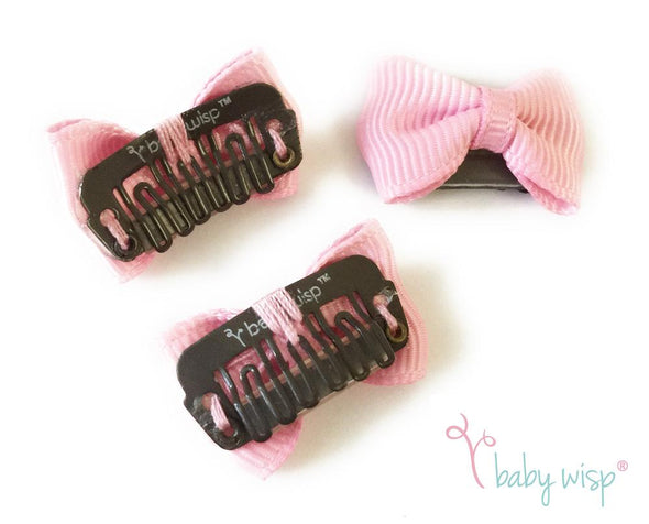 5 Tiny Bows Mini Latch Wisp Hair Clip - Fall Gift Set - Baby Wisp