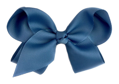 Americana Bow Pinch Clip - Antique Blue