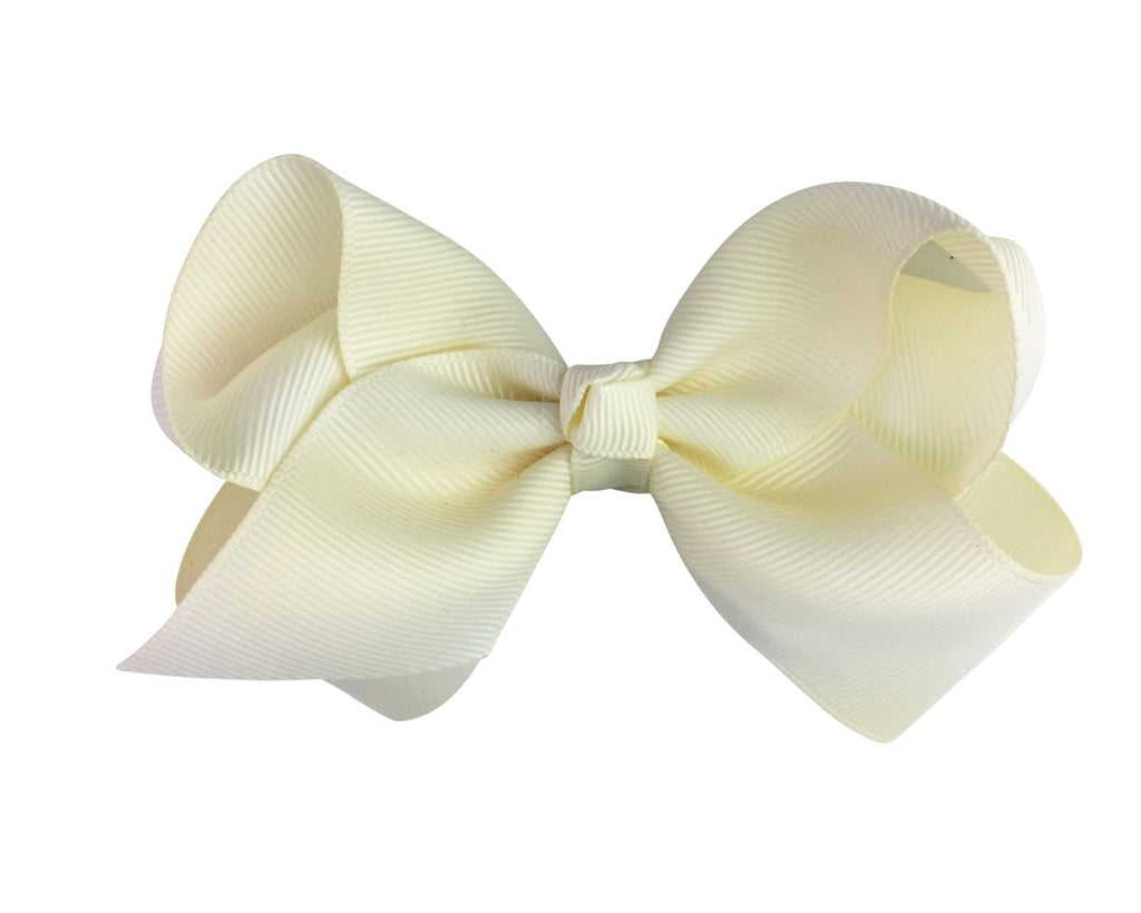 Americana Bow Pinch Clip - Antique White - Baby Wisp