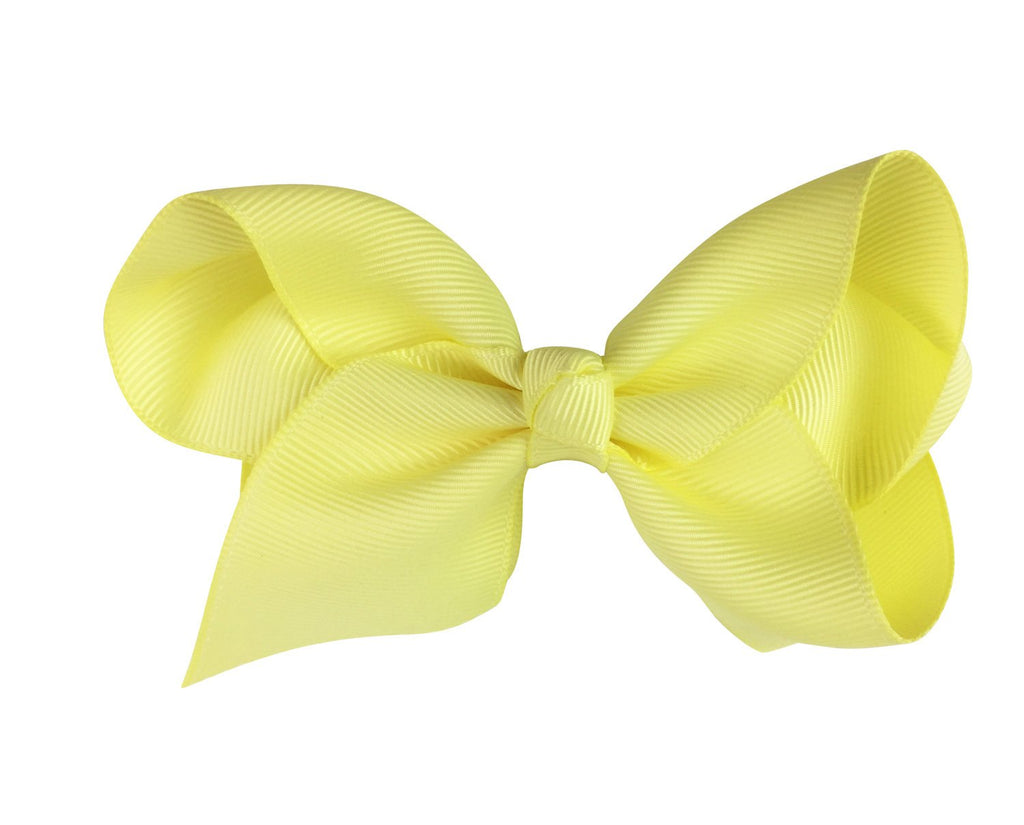 Americana Bow Pinch Clip - Baby Yellow Maize - Baby Wisp