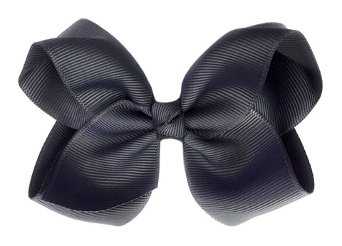 Americana Bow Pinch Clip - Charcoal - Baby Wisp