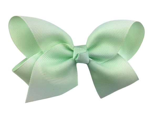 Americana Bow Pinch Clip - Ice Mint Green - Baby Wisp