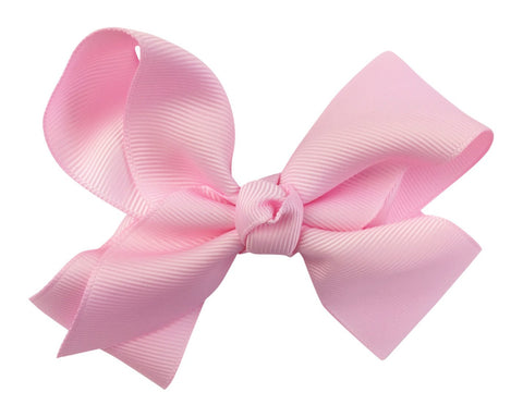 Americana Bow Pinch Clip - Light Pink
